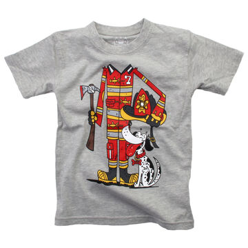 Wes And Willy Boys Firefighter Short-Sleeve T-Shirt