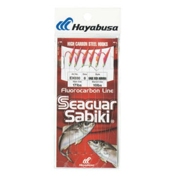 Hayabusa Sabiki Hage Red Aurora Fishing Rig