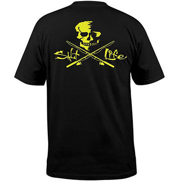 Salt Life Mens Skull & Poles Pocket Short-Sleeve T-Shirt