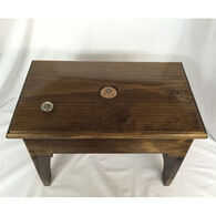 Clearly Concealed Solid Oak Footstool