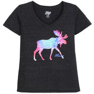 Lakeshirts Women's Blue 84 Inheritance Moose Maine Short-Sleeve T-Shirt