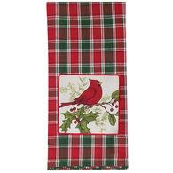 Kay Dee Designs Cardinal Plaid Applique Tea Towel