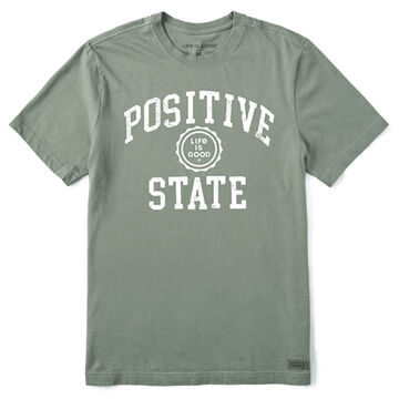 Life is Good Mens Positive State Crusher Short-Sleeve T-Shirt