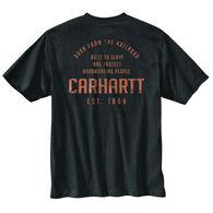 Carhartt Men's Loose Fit Heavyweight Pocket Railroad Graphic Short-Sleeve T-Shirt