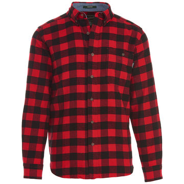 Woolrich Mens Trout Run Plaid Flannel Long-Sleeve Shirt