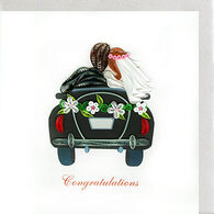 Quilling Card Just Married Card