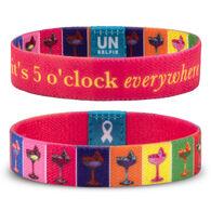 Unselfie Women's 5 O'Clock Everywhere Pattern Wrist Band
