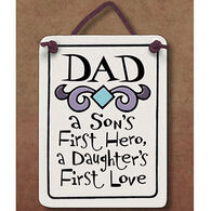 "Spooner Creek ""Dad Hero And Love"" Mini Charmer Tile"