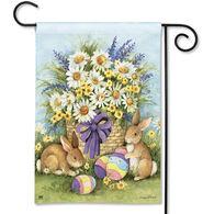 BreezeArt Easter Bunnies Garden Flag