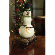 Meadowbrooke Gourds Meadowbrooke Medium Tall Lit Snowman Gourd