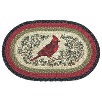 Capitol Earth Oval Cardinal Braided Rug