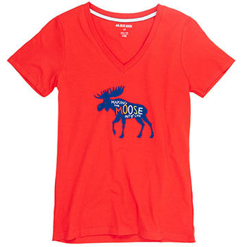 Hatley Women's Cute Cottages Pajama Short-Sleeve Shirt