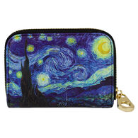 Fig Design Women's Starry Night RFID Zippered Wallet