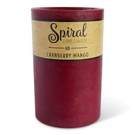 Spiral Light Large Candle - Cranberry Mango