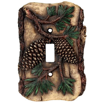 Rivers Edge Pine Cone Single Switch Plate Cover