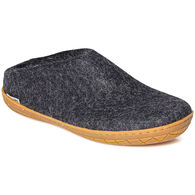 Glerups Unisex Wool Slip On with Rubber Sole Slipper