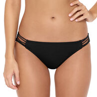 Hot Water Women's Solid Multi Strap Hipster Swimsuit Bottom