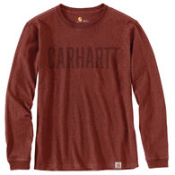 Carhartt Men's Workwear Block Logo Graphic Long-Sleeve T-Shirt