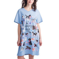 Hatley Little Blue House Women's Let Sleeping Dogs Lie Nightshirt