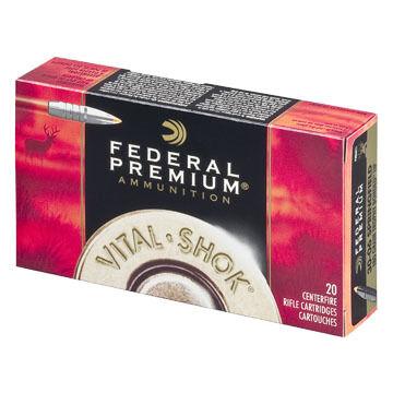Federal Premium Vital-Shok 30-06 Springfield (7.62x63mm) 180 Grain Trophy Bonded Tip Rifle Ammo (20)