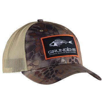 Grundens Mens Camo Trucker Hat