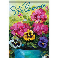 Carson Home Accents Flagtrends Watercolor Florals Garden Flag
