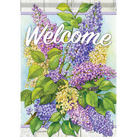 Carson Home Accents Sweet Lilac Blossoms Garden Flag