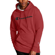 Champion Men's Powerblend Script Logo Pullover Hoodie Sweatshirt