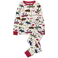 Hatley Boys' Little Blue House Sketch Country Pajama Set