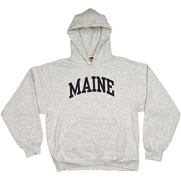 A.M. Mens Maine Arch Design Long-Sleeve Hooded Sweatshirt