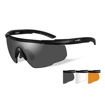 Wiley X Saber Advanced Changeable Series Sunglasses 3 Lens Package