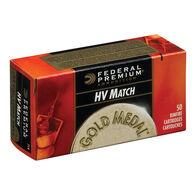 Federal Premium Gold Metal HV Match 22 LR 40 Grain LRN Ammo (50)