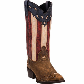 Dan Post Womens Laredo Keyes Flag Shaft Western Boot