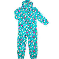 Candy Pink Girl's Penquin Pajama Onesie