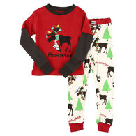 Lazy One Toddler Moosletoe Long-Sleeve Pajama Set