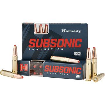 Hornady Subsonic 300 Blackout 190 Grain Sub-X Rifle Ammo (20)