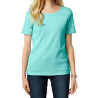 Pendleton Woolen Mills Women's Petite Short-Sleeve Rib T-Shirt