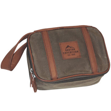 Buxton Mens Expedition Top Zip Travel Kit