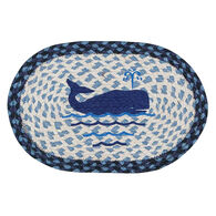 Capitol Earth Braided Oval Whale Printed Swatch Rug