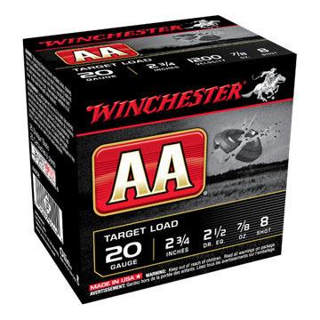 "Winchester AA Target 20 GA 2-3/4"" 7/8 oz. #8 Dram 2-1/2 Shotshell Ammo (25)"
