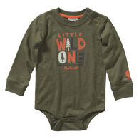 Carhartt Infant Boy's Graphic Heather Printed Long-Sleeve Bodysuit Onesie