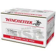 Winchester USA 5.56mm 55 Grain FMJ Rifle Ammo (200)