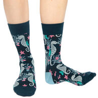 Good Luck Sock Women's Seahorses Crew Sock