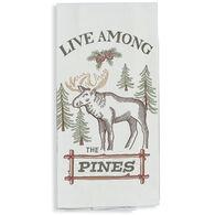 Kay Dee Designs Woodland Moose Embroidered Flour Sack Towel