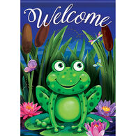 Carson Home Accents Flagtrends Evening On The Lily Pad Garden Flag