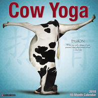 Willow Creek Press Cow Yoga 2018 Wall Calendar