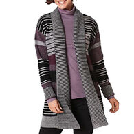 Pendleton Woolen Mills Women's Cozy Stripe Cardigan Sweater