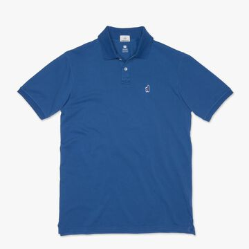 johnnie-O Mens Duncan Washed Garment-Dyed Pique 2-Button Polo Short-Sleeve Shirt