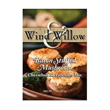 Wind & Willow Bacon Stuffed Mushroom Cheeseball & Appetizer Mix