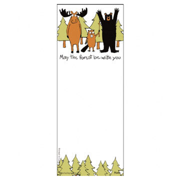 Hatley Little Blue House May The Forest Be With You Magnetic List Notepad